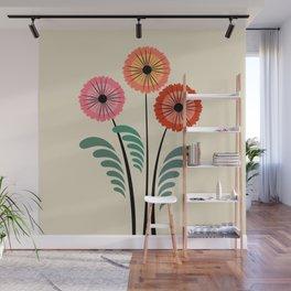 Retro flowers Wall Mural