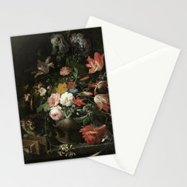 The Overturned Bouquet, Abraham Mignon, 1660 - 1679 Stationery Cards