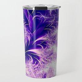 Fractal nature, purple pink Travel Mug