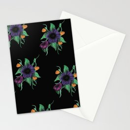 Oil paint flowers Stationery Cards