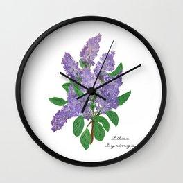 Lilacs: Syringa Wall Clock