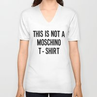 moschino V-neck T-shirts featuring MOSCHINO T SHIRT by Claudio Velázquez