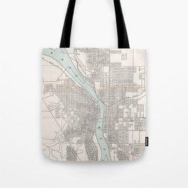 Vintage Map of Portland Oregon (1901) Tote Bag