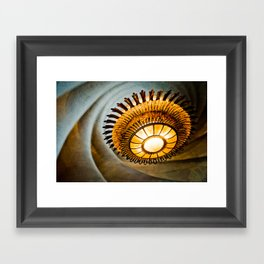 Gaudi's Chandelier at Casa Batlló Framed Art Print