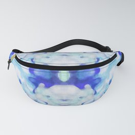 Down The Rabit Hole - Surreal Blue Watercolor Fanny Pack