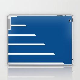 Half Stripes White and Lapis Blue Laptop & iPad Skin