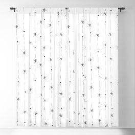 Stars Doodle Pattern Blackout Curtain
