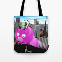 invader zim Tote Bags featuring Invader Zim by inusualstuff