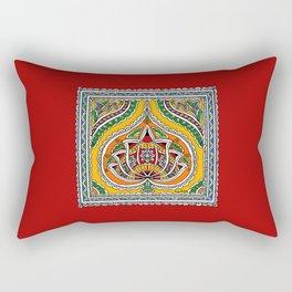Lotus on Paan Rectangular Pillow