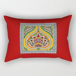 Lotus on Paan Rectangular Pillow