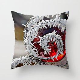 Frost Beauty Throw Pillow