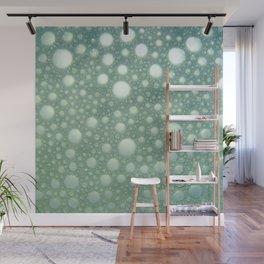 Abstract green teal modern polka dots texture pattern Wall Mural