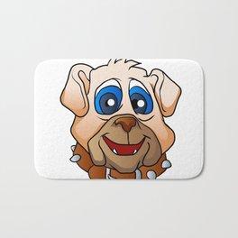bulldog face. Bath Mat