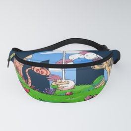 Pink-haired boy Fanny Pack
