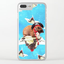 Pirate Bunny Rabbit On Sundae In Space Clear iPhone Case