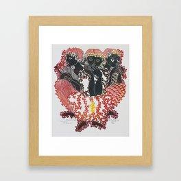 3 Figures Framed Art Print