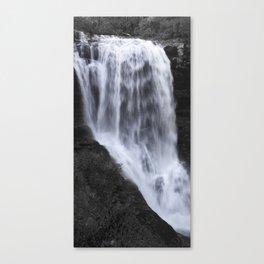 Dry Falls Panorama B&W Canvas Print