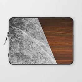 Wooden Marble Laptop Sleeve