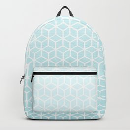 Cubes pattern blue Backpack