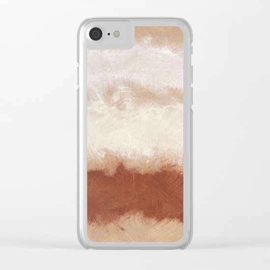 Rothko Inspired Spiced Berry Canyon Dusk 001 Modern Art #society6 Clear iPhone Case
