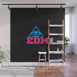 EDM rave logo Wall Mural