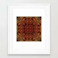 grid Framed Art Prints featuring Grid by Lyle Hatch