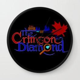 The Crimson Diamond colour logo Wall Clock