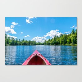 Just Keep Paddling Canvas Print