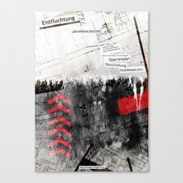 """""""Entfluchtung"""" Canvas Print"""