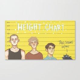 Height Chart Canvas Print
