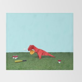 Yes T-Rex can! Throw Blanket
