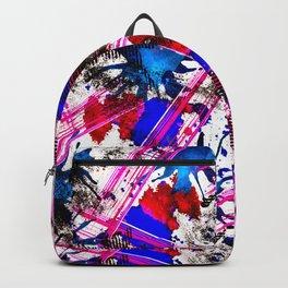 Bright grunge background.  2 Backpack