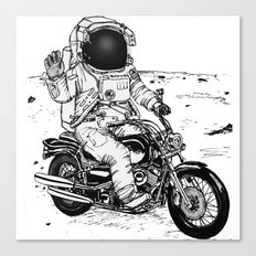Moon Biker Canvas Print