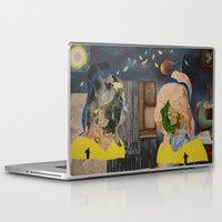 gemini Laptop & iPad Skins featuring Gemini  by Linda Wandt