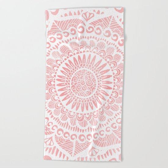 Blush Lace Beach Towel
