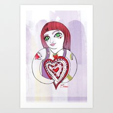 --->Strawberry_POP_Love! Art Print