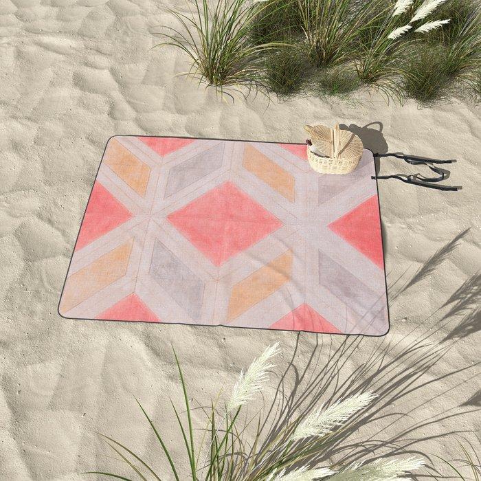 Boho Harlequin Pattern Picnic Blanket
