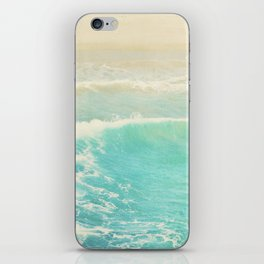 beach ocean wave. Surge. Hermosa Beach photograph iPhone Skin