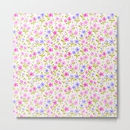 19 Cute floral pattern. Pink flowers. Metal Print