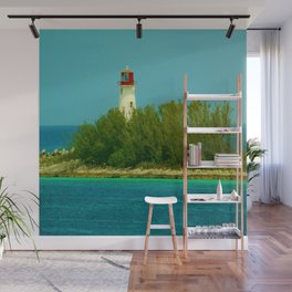 Lighthouse by the Ocean Wall Mural