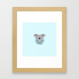 Calm happy meditating Koala Framed Art Print