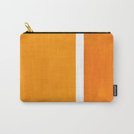 Antique Yellow  & Yellow Ochre Mid Century Modern Abstract Minimalist Rothko Color Field Squares Carry-All Pouch