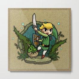 Legend of Zelda Wind Waker Forbidden Woods Temple T-Shirt Metal Print