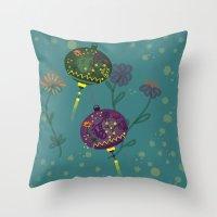 lanterns Throw Pillows featuring Lanterns  by MinaSparklina