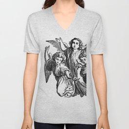 Cherubs | Angels | Three angels | Gothic Church | Gothic Decor Unisex V-Neck