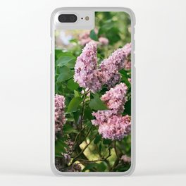 Lilacs Clear iPhone Case