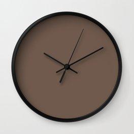 COCOA BROWN solid color Wall Clock