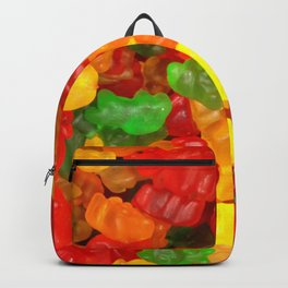red orange yellow colorful gummy bear Backpack