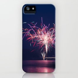 Fireworks Over Lake 19 iPhone Case