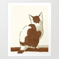 Guinevere The Cat Art Print
